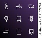 shipment icons line style set... | Shutterstock .eps vector #1141072724