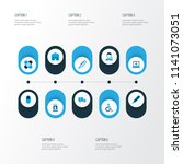 drug icons colored set with... | Shutterstock .eps vector #1141073051