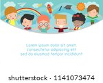 back to school  kids school ... | Shutterstock .eps vector #1141073474