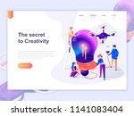 landing page template of... | Shutterstock .eps vector #1141083404