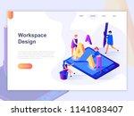 landing page template of open... | Shutterstock .eps vector #1141083407