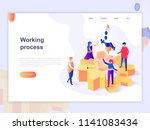 landing page template of... | Shutterstock .eps vector #1141083434