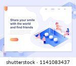 landing page template of... | Shutterstock .eps vector #1141083437
