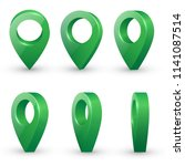 shiny green metal realistic map ... | Shutterstock .eps vector #1141087514