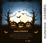 blue grungy halloween... | Shutterstock .eps vector #114108841