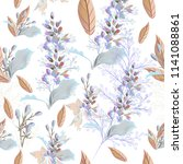beautiful elegant pattern with... | Shutterstock .eps vector #1141088861