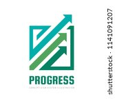progress   concept business... | Shutterstock .eps vector #1141091207