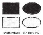 grunge post stamps.vector... | Shutterstock .eps vector #1141097447