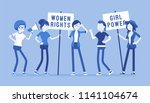feminists social movement.... | Shutterstock .eps vector #1141104674
