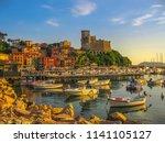 san giorgio castle of lerici... | Shutterstock . vector #1141105127