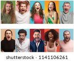 angry people screaming. the... | Shutterstock . vector #1141106261