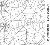 seamless spider web pattern.... | Shutterstock .eps vector #1141108604