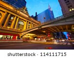 grand central along 42nd street ... | Shutterstock . vector #114111715