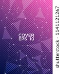 vector cover page layout.... | Shutterstock .eps vector #1141121267