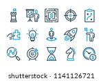business and strategy related... | Shutterstock .eps vector #1141126721