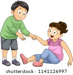 illustration of a kid boy... | Shutterstock .eps vector #1141126997