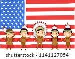 illustration of native american ...