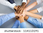 international  business team... | Shutterstock . vector #114113191