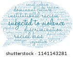 subjected to violence word... | Shutterstock .eps vector #1141143281