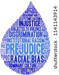 prejudice word cloud on a white ... | Shutterstock .eps vector #1141143914