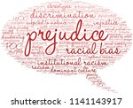 prejudice word cloud on a white ... | Shutterstock .eps vector #1141143917