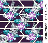 seamless pattern in tropical... | Shutterstock .eps vector #1141150691