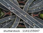 aerial view of highway and... | Shutterstock . vector #1141155047