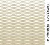 golden vector halftone grid... | Shutterstock .eps vector #1141156067