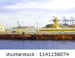 old dock pier  | Shutterstock . vector #1141158074