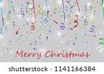 colorful bright confetti... | Shutterstock .eps vector #1141166384