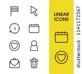 internet icons set with pointer ...
