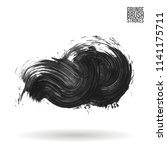 grey brush stroke and texture.... | Shutterstock .eps vector #1141175711
