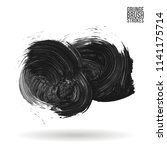 grey brush stroke and texture.... | Shutterstock .eps vector #1141175714