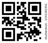 modern black qr code on white... | Shutterstock .eps vector #1141181501
