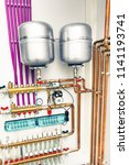independent heating system in... | Shutterstock . vector #1141193741
