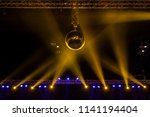 disco ball with bright rays and ... | Shutterstock . vector #1141194404