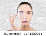 futuristic and technological... | Shutterstock . vector #1141200011