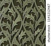 seamless relief sculpture... | Shutterstock .eps vector #1141212467