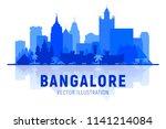 bangalore  india   skyline... | Shutterstock .eps vector #1141214084