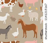different home farm vector... | Shutterstock .eps vector #1141215167