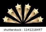 gold stars burst elements ... | Shutterstock .eps vector #1141218497