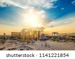 ruins of parthenon temple at...   Shutterstock . vector #1141221854