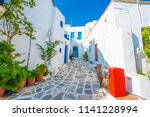old traditional white houses on ...   Shutterstock . vector #1141228994