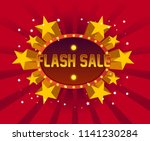 flash sale  beautiful greeting... | Shutterstock .eps vector #1141230284