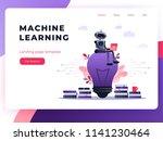 machine learning algorithm... | Shutterstock .eps vector #1141230464