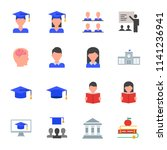 students  education set of... | Shutterstock .eps vector #1141236941