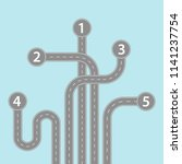 navigation road infographic.... | Shutterstock .eps vector #1141237754