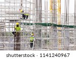 asian construction workers... | Shutterstock . vector #1141240967