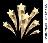 gold stars burst elements ... | Shutterstock .eps vector #1141245527