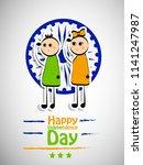illustration of indian... | Shutterstock .eps vector #1141247987